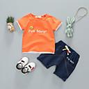 ieftine Set Îmbrăcăminte Bebeluși-Bebelus Unisex De Bază Mată Manșon scurt Bumbac Set Îmbrăcăminte / Copil