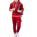 ieftine Costum Baie Fete-Copii Fete De Bază / Șic Stradă Zilnic / Sport Mată Manșon Lung Scurt Scurt Bumbac / Poliester Set Îmbrăcăminte Roz Îmbujorat 140