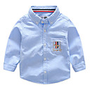 tanie Zestawy ubrań dla chłopców-Dzieci Dla chłopców Podstawowy Nadruk Haft Długi rękaw Bawełna Koszula