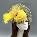 זול הד פיס למסיבות-עור / רשת מפגשים / כובעים / מצנפת עם נוצות / פרחוני / פרח 1pc חתונה / אירוע מיוחד כיסוי ראש