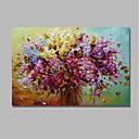 baratos Pinturas Paisagens-Pintura a Óleo Pintados à mão - Abstrato / Floral / Botânico Contemprâneo / Modern Tela de pintura