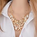 preiswerte Modische Halsketten-Damen Mehrschichtig Anhängerketten - Künstliche Perle Seestern, Hülle Klassisch Gold 46+5 cm Modische Halsketten Schmuck 1pc Für Bikini