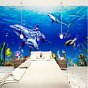 cheap Wall Murals-Mural Canvas Wall Covering - Adhesive required Floral / Art Deco / 3D