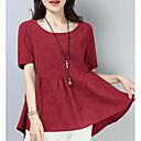 זול נעלי עקב לנשים-חולצת טריקו של נשים - צוואר בצבע מלא