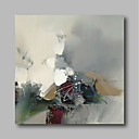 cheap Abstract Paintings-Oil Painting Hand Painted - Abstract Comtemporary / Modern Canvas