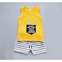 ieftine Set Îmbrăcăminte Băieți Bebeluși-Bebelus Băieți Activ Zilnic Dungi / Imprimeu Fără manșon Regular Poliester Set Îmbrăcăminte Alb 100 / Copil