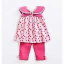 ieftine Set Îmbrăcăminte Bebeluși-Bebelus Fete Activ Buline / Floral Manșon scurt Set Îmbrăcăminte / Copil