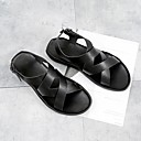 ieftine Șlapi Bărbați & Flip-Flops-Bărbați PU Vară Confortabili Sandale Negru