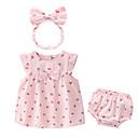 ieftine Set Îmbrăcăminte Bebeluși-Bebelus Fete Activ Imprimeu Fără manșon Bumbac Set Îmbrăcăminte / Copil