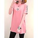 baratos Brincos-Mulheres Camiseta - Para Noite Moda de Rua Letra Solto
