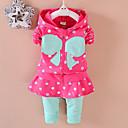 ieftine Costum Baie Fete-Copii Fete Buline / Imprimeu Manșon Lung Set Îmbrăcăminte