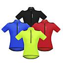 hesapli Bisiklet Formaları-WOSAWE Erkek Kısa Kollu Bisiklet Forması - Kırmzı / Yeşil / Mavi Bisiklet Forma, Yansıtıcı çizgili