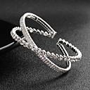 preiswerte Armbänder-Damen Manschetten-Armbänder - Europäisch, Modisch Armbänder Silber Für Hochzeit Alltag
