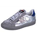 povoljno Ženske sandale-Žene PU Ljeto Udobne cipele Sneakers Ravna potpetica Okrugli Toe Šljokice Obala / Sive boje / Color block