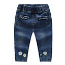 cheap Baby Girls' Clothing Sets-Baby Girls' Basic Floral Cotton Jeans / Toddler
