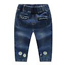 ieftine Pantaloni Bebeluși-Bebelus Fete De Bază Zilnic Floral Bumbac / Spandex Blugi Albastru piscină 100 / Copil