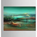 povoljno Ulja na platnu-Hang oslikana uljanim bojama Ručno oslikana - Sažetak / Pejzaž Moderna Platno