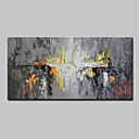 abordables Peintures Abstraites-Peinture à l'huile Hang-peint Peint à la main - Abstrait Moderne Inclure cadre intérieur / Toile tendue