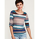 billige Motearmbånd-Sommerfuglermer T-skjorte Dame - Stripet, Trykt mønster Gatemote / fin Stripe