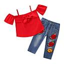 ieftine The Freshest One-Piece-Bebelus Fete Mată / Floral Manșon scurt Set Îmbrăcăminte