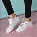 povoljno Ženske sandale-Žene Cipele Mekana koža Ljeto Udobne cipele Sneakers Ravna potpetica Zatvorena Toe Zlato / Crn / Pink