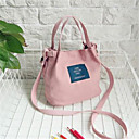 cheap Totes-Women's Bags Canvas Tote Zipper Blushing Pink / Yellow / Gray Green