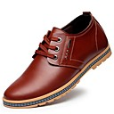 cheap Men's Oxfords-Men's Patent Leather Spring Comfort Oxfords Black / Brown / Party & Evening