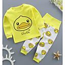 ieftine Set Îmbrăcăminte Bebeluși-Bebelus Fete Casual Zilnic Imprimeu Manșon scurt / Manșon Lung Regular Bumbac Set Îmbrăcăminte Alb