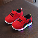 ieftine Pantofi Fetițe-Fete Pantofi Plasă / PU Primavara vara Confortabili Adidași de Atletism Plimbare LED pentru Copii Negru / Rosu / Roz