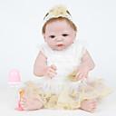 povoljno Lutkice-FeelWind Autentične bebe Za ženske bebe 22 inch Cijeli silikon tijela - vjeran Umjetna implantacija Plave oči Dječjom Djevojčice Igračke za kućne ljubimce Poklon