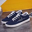 זול סניקרס לגברים-בגדי ריקוד גברים קנבס אביב נוחות נעלי ספורט שחור / אפור / כחול