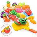olcso Játékkonyhák és ételek-Szerepjátékok Élelem Gyümölcs Szülő-gyermek interakció Műanyag ház Iskola előtti Fiú Lány Játékok Ajándék 18 pcs