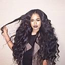 olcso Emberi hajból készült parókák-Remy haj Csipke eleje Paróka Brazil haj Hullámos Paróka Réteges frizura 150% Haj denzitás baba hajjal Természetes hajszálvonal Fekete Női Hosszú Emberi hajból készült parókák Aili Young Hair