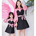 ieftine Set Îmbrăcăminte De Familie-Adulți Mama și cu mine De Bază Dungi Manșon Lung Rochie