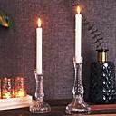 billige Herrearmbånd-Europeisk Stil glass Lysestaker Voks / Kandelaber 1pc, Stearinlys / Stearinlysholder