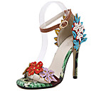 cheap Women's Heels-Women's Shoes Faux Leather Spring & Summer D'Orsay & Two-Piece Sandals Stiletto Heel Green / Party & Evening