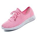 ieftine Flip-Flops de Damă-Pentru femei Pantofi PU Vară Confortabili Adidași Toc Drept Vârf rotund Alb / Roz