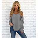 cheap Women's Heels-Women's Going out Active / Basic Cotton Loose Blouse - Solid Colored Backless / Lace up Strap / Strapless / Off Shoulder Red L / Boat Neck / Summer / Sexy