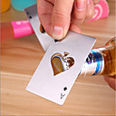 cheap Corkscrews & Openers-Ace Poker Bottle Opener Stainless Steel Playing Card Beer Cap Opener