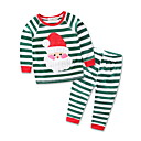 cheap Toilet Brush Holder-Toddler Boys' Active / Street chic Holiday Striped Embroidered Long Sleeve Clothing Set