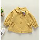 ieftine Îmbrăcăminte Bebeluși-Bebelus Fete De Bază Zilnic Mată Manșon Lung Regular Poliester Pardesiu Roz Îmbujorat / Copil