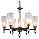 tanie Lampy wiszące-QIHengZhaoMing 6 świateł Żyrandol Światło rozproszone Mosiądz antyczny Metal Szkło 110-120V / 220-240V Ciepła biel Zawiera żarówkę