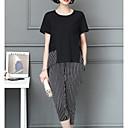 abordables Lámpara de Mesa-Mujer Tallas Grandes Básico Manga Farol Blusa - Un Color, Plisado Pantalón