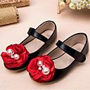 ieftine Pantofi Fetițe-Fete Pantofi PU Primavara vara Pantofi Fata cu Flori Pantofi Flați Flori pentru Copii Negru / Bej / Roz