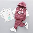 ieftine Set Îmbrăcăminte Bebeluși-Bebelus Fete Mată / Imprimeu Manșon Jumate Set Îmbrăcăminte