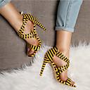povoljno Ženske sandale-Žene Cipele PU Jesen zima Obične salonke Sandale Stiletto potpetica Otvoreno toe Obala / Bijela