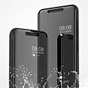 levne Pouzdra telefonu & Ochranné fólie-Carcasă Pro Xiaomi Mi 8 / Mi 8 SE se stojánkem / Galvanizované / Zrcadlo Celý kryt Jednobarevné Pevné PU kůže pro Xiaomi Mi 8 / Xiaomi Mi 8 SE