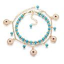ieftine Brățări-Pentru femei Șuviță unică gleznă brățară Reșină Floare femei La modă Romantic Dulce Brățară Gleznă Bijuterii Albastru Pentru Cadou Ieșire
