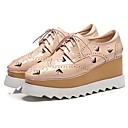 ieftine Sandale de Damă-Pentru femei Pantofi Microfibre Primăvară / Vară Confortabili Oxfords Creepers Vârf Închis Negru / Migdală