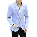 cheap Men's Accessories-Men's Blazer-Solid Colored Peaked Lapel / Long Sleeve